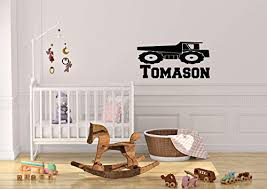 Amazon Com Personalized Kids Construction Equiment Dump Truck Wall Decal Handmade