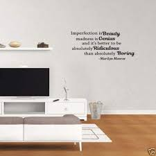 Amazon Com Diuangfoong Classroom Vinyl Wall Decal Imperfection Is Beauty Madness Is Genius Home Kitchen