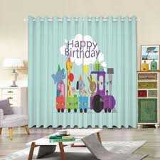 Digital Printing 3d Panel Stars Kids Room Grommet Curtain Treatment 2 Piece 80 By 84 Inches Blue