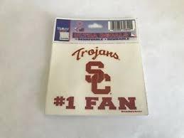 Usc Trojans 1 Fan Window Decal Sticker 3 X3 3 4 7 6x9 5 Cm Free Shipping 32085708441 Ebay