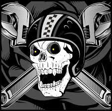 شعار الجمجمة راكب الدراجة النارية خمر الفنون خلفيات شارات Png