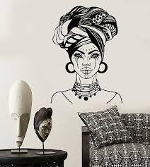 African Woman Wall Decal African Girl Wall Sticker Afro Girl Decal Ga262 Decor Decals Stickers Vinyl Art Home Garden