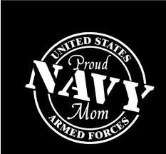 Proud Navy Vinyl Car Decal Mom Motherproud