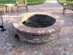 brick fire pit ideas webrises info