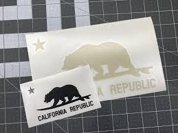 California Republic Surfing Bear Vinyl Decal Sticker