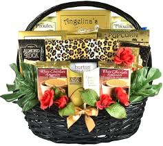 on the wild side romantic gift basket