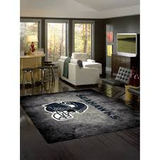seattle seahawks distressed nfl rug