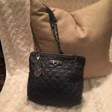 dkny bags grey quilted leather purse