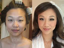 asian makeup transformation before and