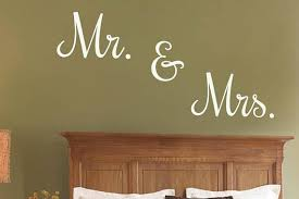 Elegant Mr Mrs Wall Vinyl Lettering Decal Or Stencil Etsy Custom Vinyl Lettering Vinyl Lettering Wall Decor Decals