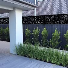 Matrix 2400 X 600mm Charcoal Rainforest Fence Extension Bunnings Warehouse