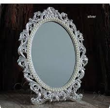 makeup cosmetic mirror fl embossed