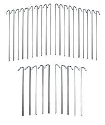 Lowes 30 Piece Galvanized Steel Tent Pegs Garden Stakes Gazebo Canopy Lowes