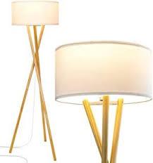 Brightech Harper Led Tripod Floor Lamp Wood Ezlo Shop