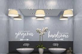 Good Morning Gorgeous Hello There Handsome Vinyl Wall Decal Etsy