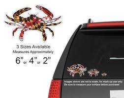 Maryland Crab Decal Etsy