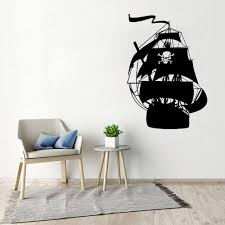 Ship Pirates Wall Decal Peter Pan Cartoon Ship Pirates Hook Vinyl Wall Sticker Kids Girls Boys Teenager Room Decor Mural Wl1421 Wall Stickers Aliexpress
