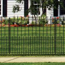 No Dig Grand Empire Xl 3 8 Ft H X 4 7 Ft W Black Steel Pressed Point Decorative Fence Panel Lowes Com Decorative Fence Panels Fence Panels Metal Fence Panels