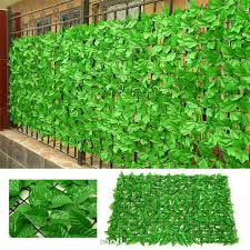 Home Decorative Indoor Backyard Outdoor Garden Privacy Screen Faux Leaves Artificial Fence Shopee Malaysia