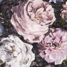 floretta blush charcoal clarke clarke