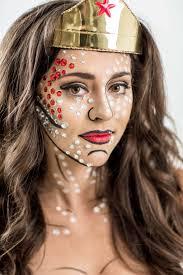 diy wonder woman costume with pop art