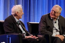 At a retreat, Carter and Mondale talked about the old days, and went after  Trump - The Washington Post