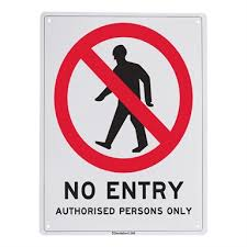 Sandleford 450 X 600mm No Entry Plastic Sign Bunnings Warehouse