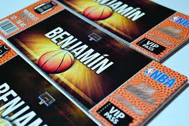 Invitaciones Tarjetas De Cumpleanos Basquet Basketball 6