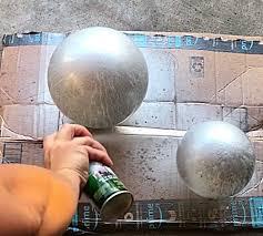 pottery barn copycat mercury glass globe