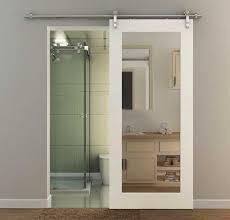 sliding barn door mirror inlay mdf