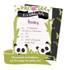Panda Feliz Cumpleanos Invitaciones Invitan A Tarjetas 25 C