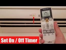 fujitsu aircon timer light veser