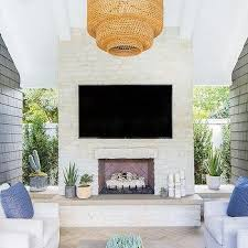concrete outdoor fireplace hearth