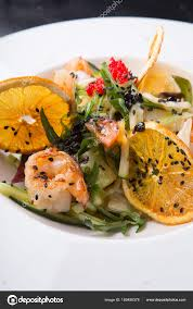 Elegant asian seafood salad — Stock ...