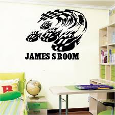 Cool Personalized Race Car And Flag Vinyl Wall Decal Name Custom Racing Car Flag Home Wall Sticker Boys Bedroom Art Decoration Decoration Wedding Car Car Refitcar Decal Vinyl Sticker Aliexpress