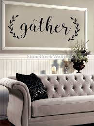 Gather Wall Decal Living Room Dining Room Family Decor Etsy