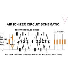 build an air ionizer purifier circuit