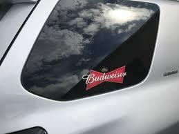 3m Budweiser Bumper Sticker Decal Budweiser Beer Logo For Car Wall Or Window