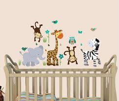 Amazon Com Kids Wall Decals Jungle Animal Stickers Safari Evergreen Animal Wall Decals Baby