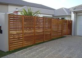 1800 High Balau Timber Fence With Gate Attached To Side Of House And Rendered Retaining Wall Timberfence Yard Remodel Wooden Fence Modern Fence