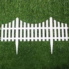 5pcs Plastic Garden Fence Easy Assemble White European Style Insert Ground Type Plastic Fences For Garden Countryyard Decor Fencing For Garden Plastic Garden Fencesgarden Fence Aliexpress