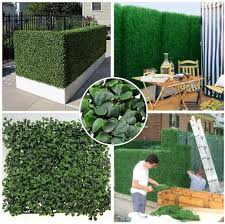 Artificial Hedges Who Knew Such A Thing Great Idea For Outside Wall Creations Garden Hedges Artificial Plants Indoor Artificial Vertical Garden