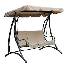 premium 3 seater garden swing in beige