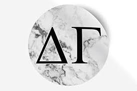 Amazon Com Delta Gamma Sticker Greek Sorority Decal For Car Laptop Windows Officially Licensed Product Monogram Design 5 X 5 White Marble Arts Crafts Sewing
