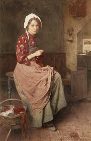 File:Carlton Alfred Smith - A young girl knitting.jpg - Wikimedia Commons