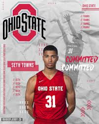 """Andrew Slater on Twitter: """"Harvard grad transfer Seth Towns @seth_towns17  has committed to Ohio State University. 2 years ago, 6'7"""" Towns won the Ivy  POY. #Buckeyes 👩🎨 @madebyjerryco @_proinsight… https://t.co/Tkswo4L66C"""""""