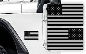Black Ops American Flag Fender Stickers 4x4 Off Roadhood Decals Vinyl Emblems Ebay