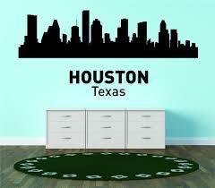 Do It Yourself Wall Decal Sticker Houston Texas United States Major City Geographical Map Landmark 30x64 Walmart Com Walmart Com
