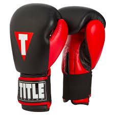 title dethrone leather heavy bag gloves
