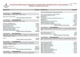 relación de beneficiarios e importes de subvenciones concedidas